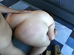 Chubby mom gets hot jizz after fuck