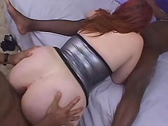 Titty redhead babe fucks brains out