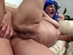 Chesty granny fucked in all holes