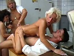 Granny fucked by guys in all holes