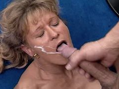 Depraved mature fucks n gets facial