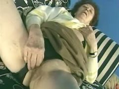 Granny seduces guy and sucks cock